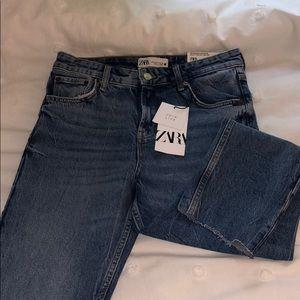 NWT Zara HW Slim Cropped Jeans